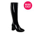 "3"" Heel GOGO-300WC Black  (Wide Calf)"