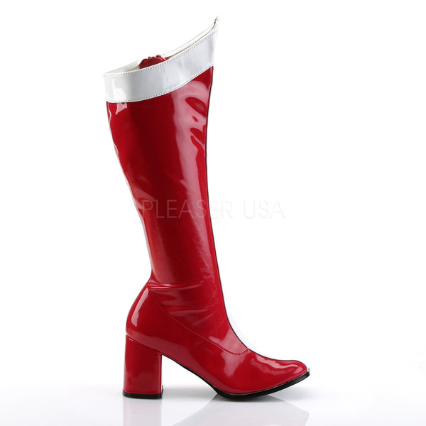 FUNTASMA GOGO-305 Red-White Stretch Pat Wonder Woman Boots