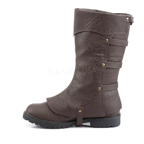 Men's Brown Renaissance Medieval Pirate Boots - Shoecup.com - 3