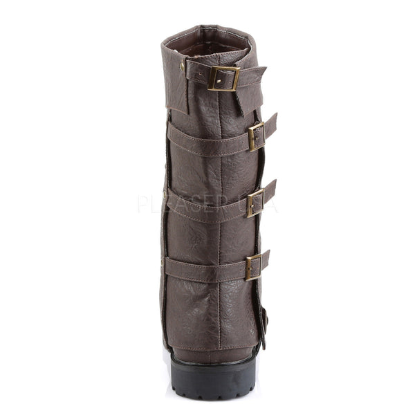 Men's Brown Renaissance Medieval Pirate Boots - Shoecup.com - 4