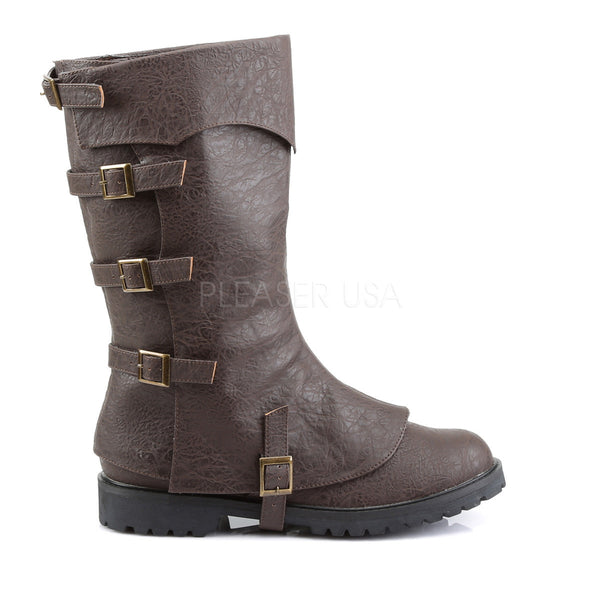 Men's Brown Renaissance Medieval Pirate Boots - Shoecup.com - 2