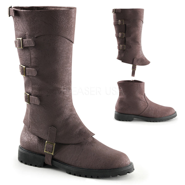 Men's Brown Renaissance Medieval Pirate Boots - Shoecup.com - 1