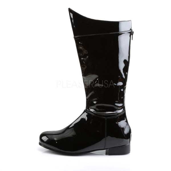 Men's Black Pat Superhero Boots