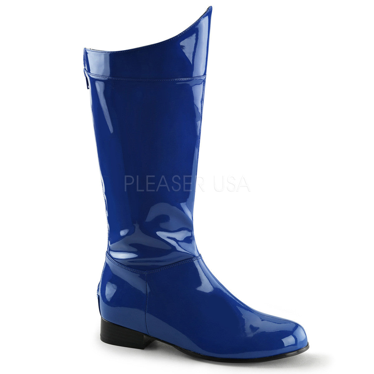 Men's Blue Pat Super Hero Boots - Shoecup.com