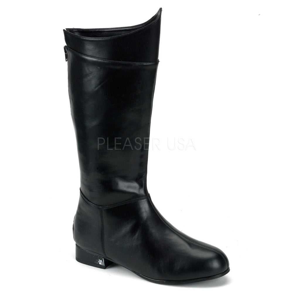 Men's Black Pu Superhero Boots