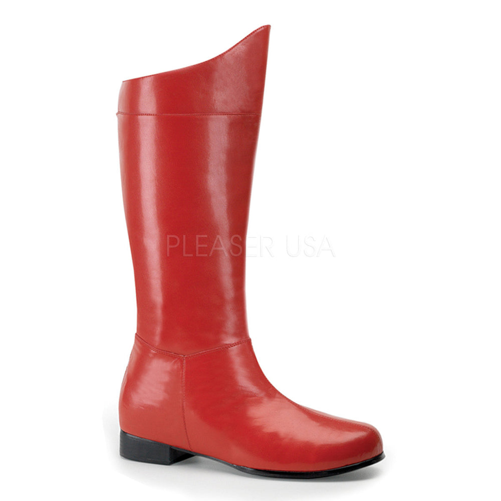 Men's Red Pu Superhero Boots