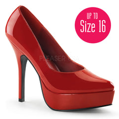 Devious,DEVIOUS INDULGE-520 Red Pat Plain Pumps - Shoecup.com