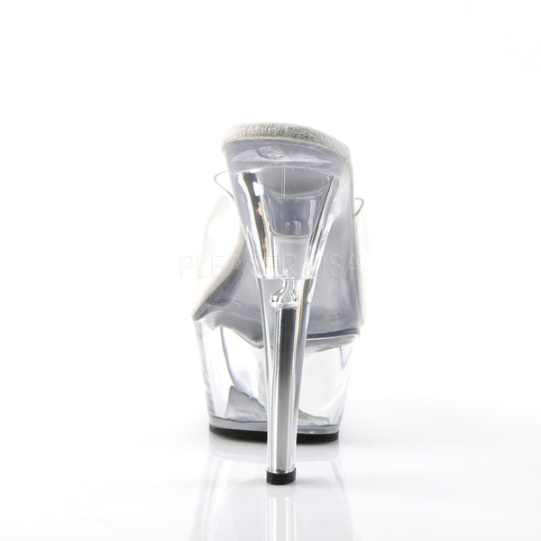 PLEASER KISS-201 Clear Platform Sandals