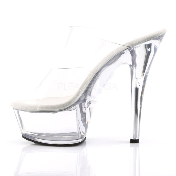 PLEASER KISS-202 Clear Platform Sandals - Shoecup.com - 3