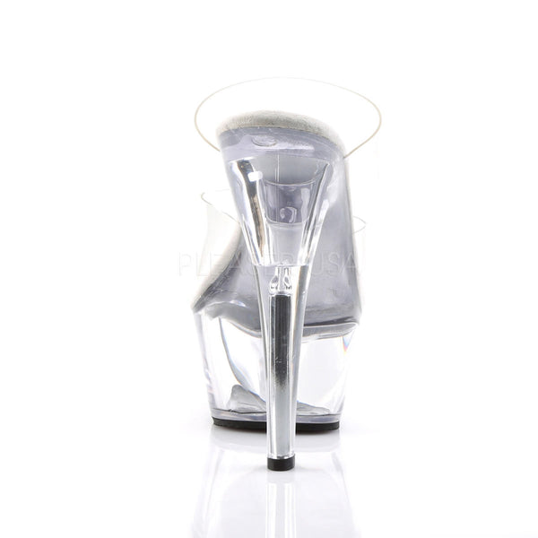 PLEASER KISS-202 Clear Platform Sandals - Shoecup.com - 4