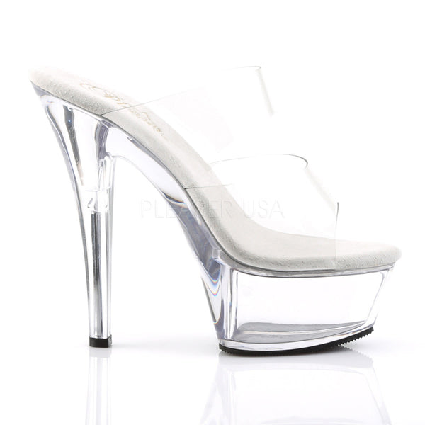 PLEASER KISS-202 Clear Platform Sandals