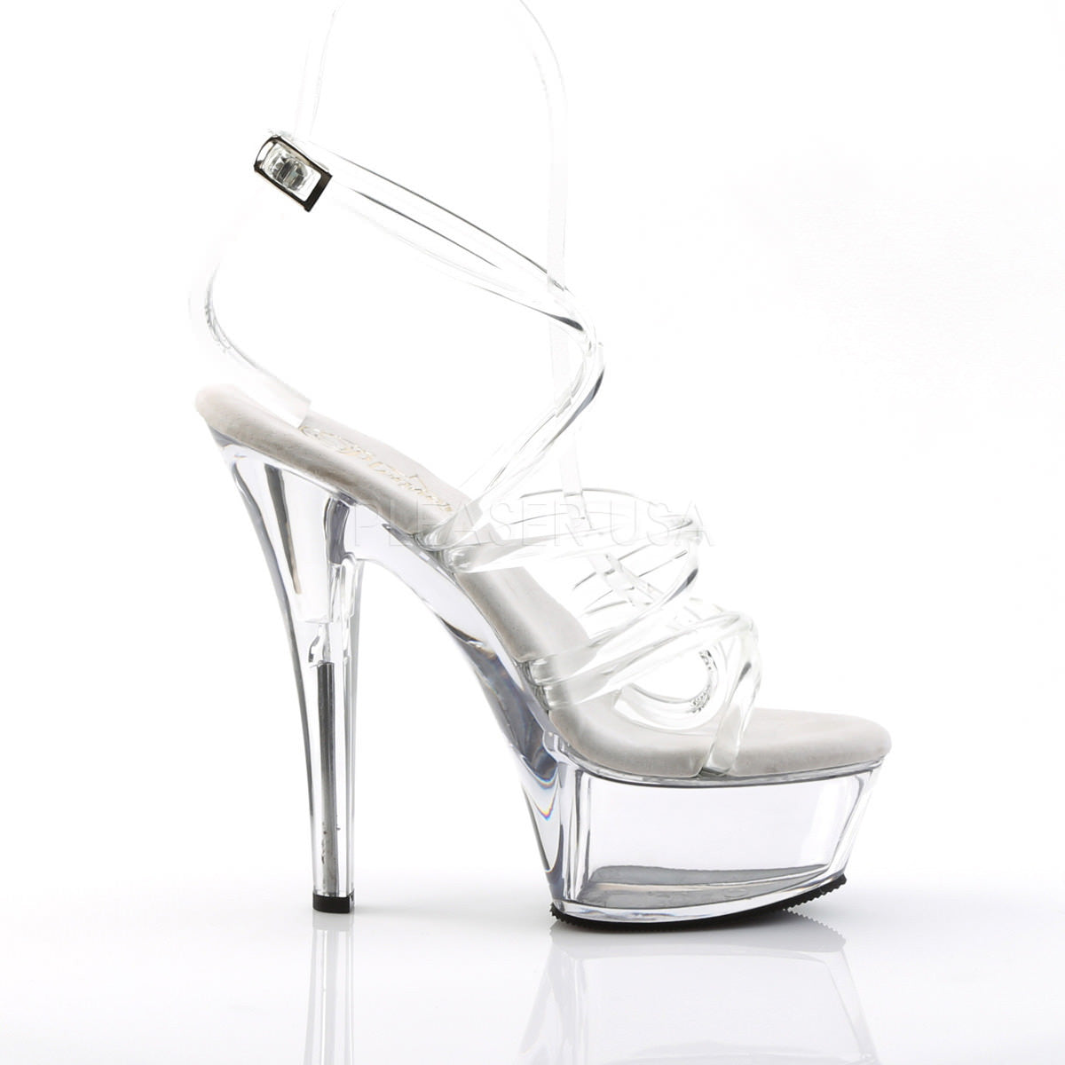8 inch spiked platform heel play with double squirt 1