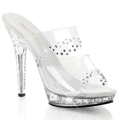 FABULICIOUS LIP-102RS Clear-Clear Platform Slides - Shoecup.com