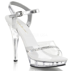FABULICIOUS LIP-108R Clear-Clear Ankle Strap Sandals - Shoecup.com