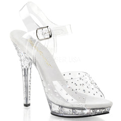 FABULICIOUS LIP-108RS Clear-Clear Ankle Strap Sandals - Shoecup.com