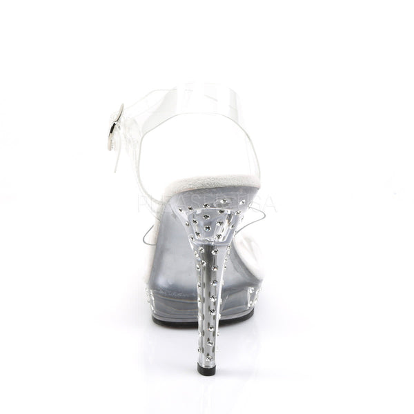 FABULICIOUS LIP-108SDT Clear-Clear Ankle Strap Sandals