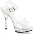 FABULICIOUS LIP-108SDT Clear-Clear Ankle Strap Sandals - Shoecup.com