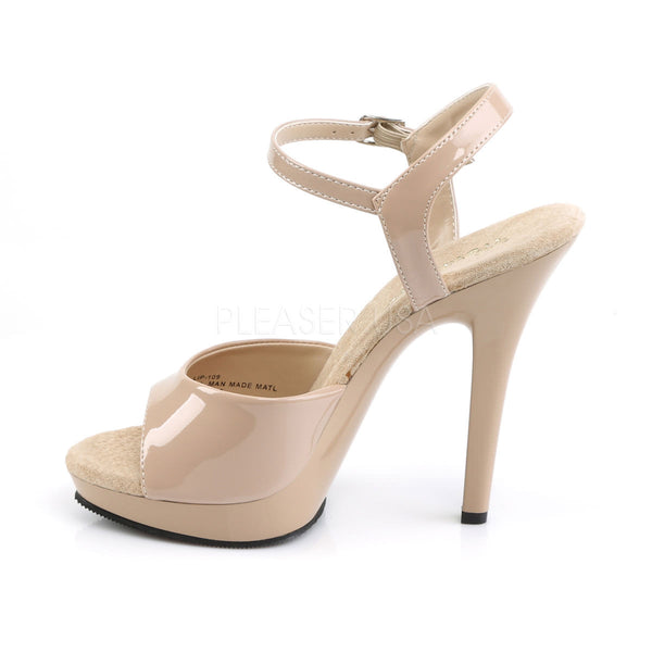FABULICIOUS LIP-109 Nude-Nude Ankle Strap Sandals