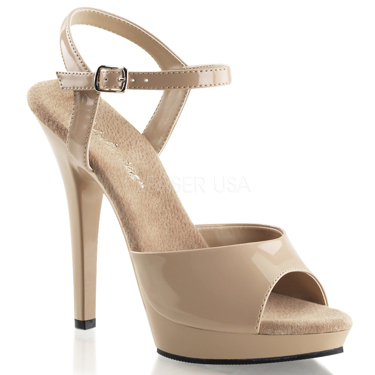 FABULICIOUS LIP-109 Nude-Nude Ankle Strap Sandals - Shoecup.com