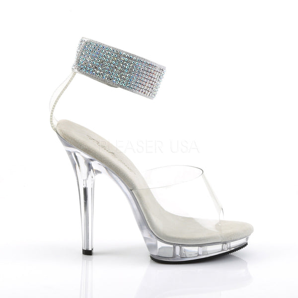 FABULICIOUS LIP-142 Clear-Clear Stiletto Sandals