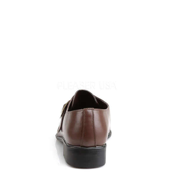 Men's Brown Pu Costume Loafer Gangster Shoes