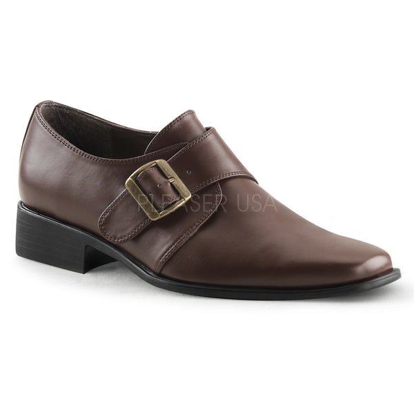 Men's Brown Pu Costume Loafer Ganster Shoes - Shoecup.com
