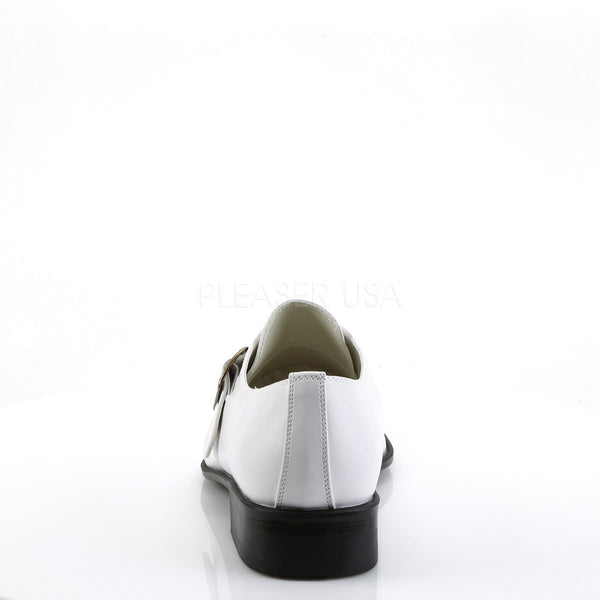 Men's White Pu Costume Loafer Gangster Shoes