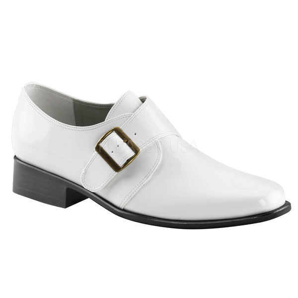 Men's White Pu Costume Loafer Ganster Shoes - Shoecup.com