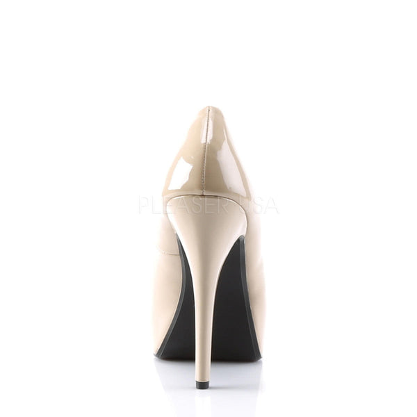 PINUP COUTURE LOLITA-10 Cream/Cream Peep Toe Pumps - Shoecup.com - 5