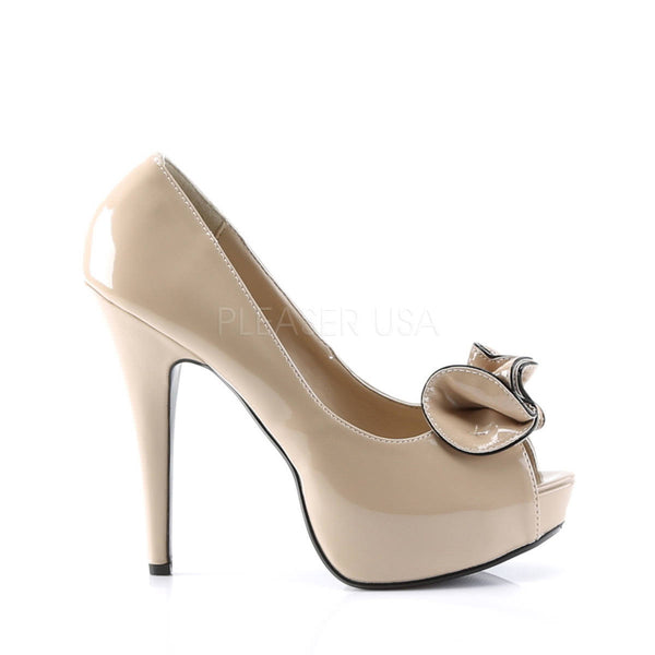 PINUP COUTURE LOLITA-10 Cream/Cream Peep Toe Pumps - Shoecup.com - 3