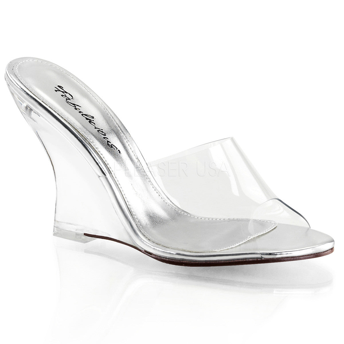 FABULICIOUS LOVELY-401 Clear-Clear Wedges - Shoecup.com
