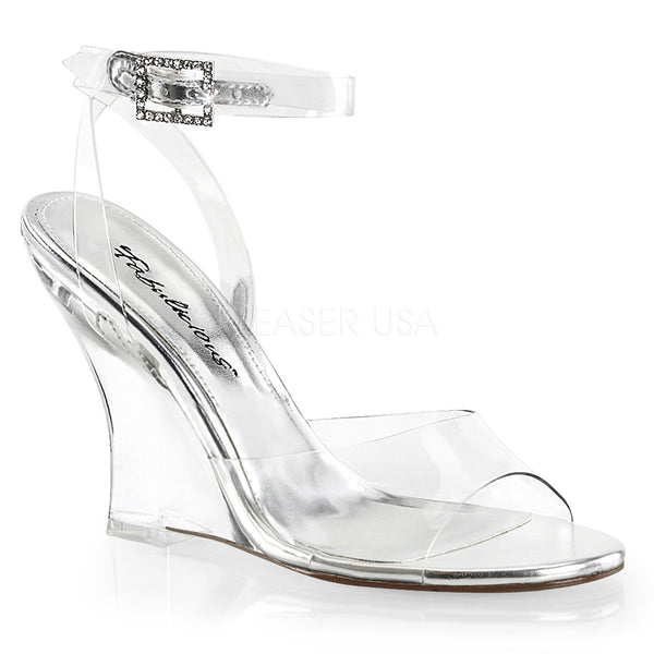 Fabulicious LOVELY-406 Clear Wrap Around Wedge Sandals - Shoecup.com - 1