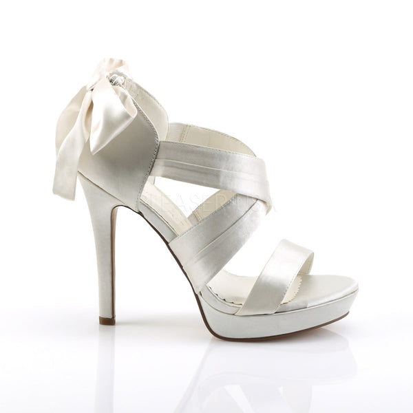 FABULICIOUS LUMINA-29 Ivory Satin Closed Back Sandals