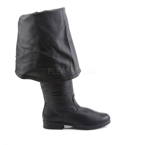 FUNTASMA MAVERICK-2045 Men's Black Leather Pirate Boots