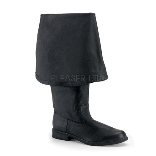 FUNTASMA MAVERICK-2045 Men's Black Leather Pirate Boots - Shoecup.com