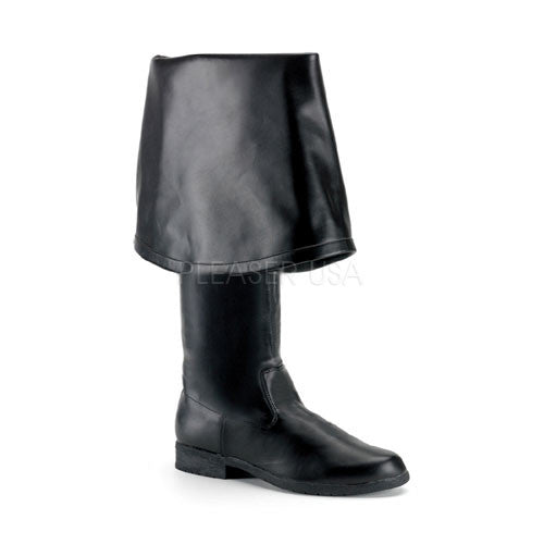 FUNTASMA MAVERICK-2045 Men's Black Pu Pirate Boots - Shoecup.com