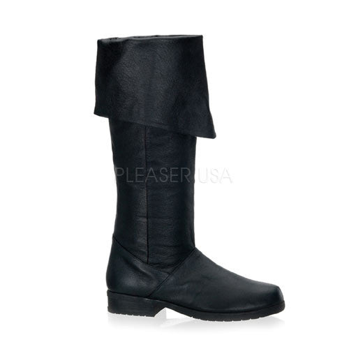 FUNTASMA MAVERICK-8812 Men's Black Leather Knee High Boots - Shoecup.com