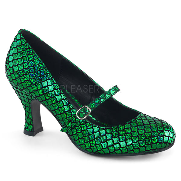 "3"" Heel MERMAID-70 Green"