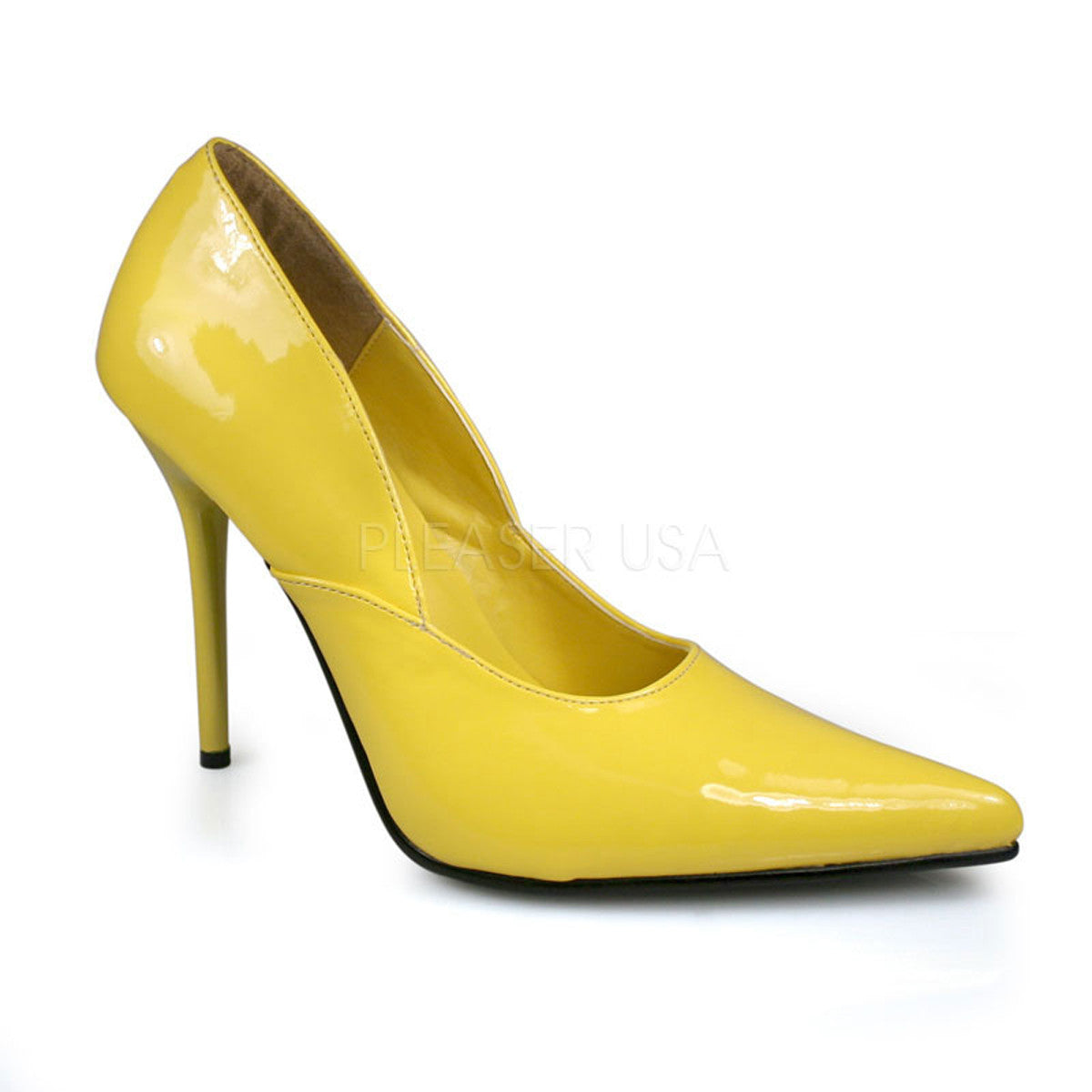 PLEASER MILAN-01 Yellow Pat Classic Pumps - Shoecup.com