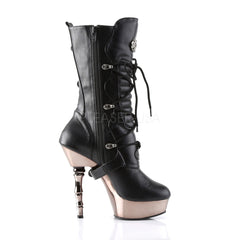 DEMONIA MUERTO-1026 Black Pu/Pewter Chrome Boots - Shoecup.com - 3