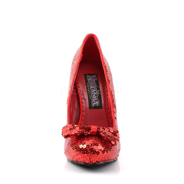 FUNTASMA OZ-06 Red Sequins Pumps