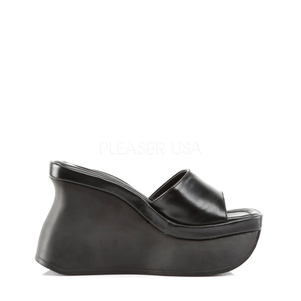DEMONIA PACE-01 Black Pu Sandals - Shoecup.com - 3