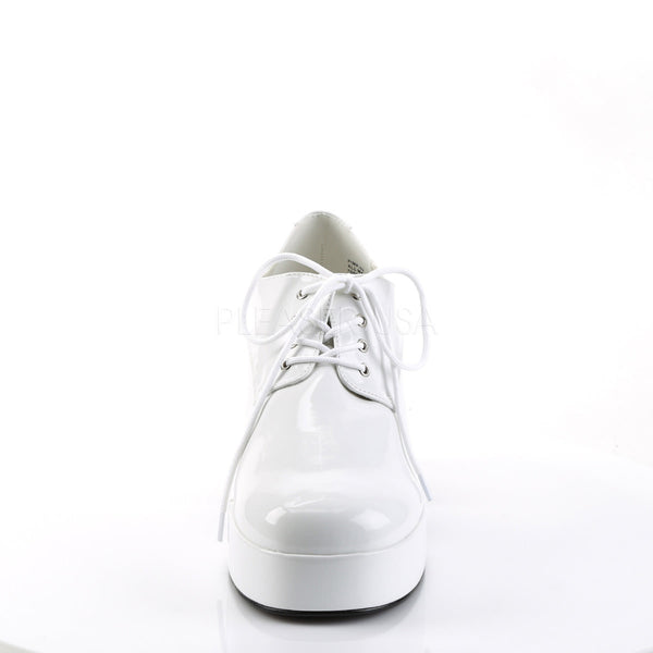 Men's White  Fish Tank Platform Shoes With Fish