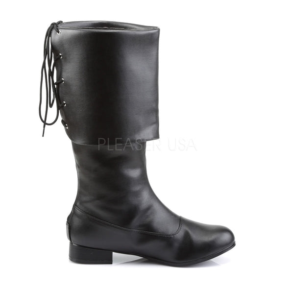 Men's Black Pu Pirate Boots