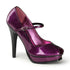 PINUP COUTURE PLEASURE-02G Fuchsia Pearlized Glitter Pat Mary Jane Pumps - Shoecup.com