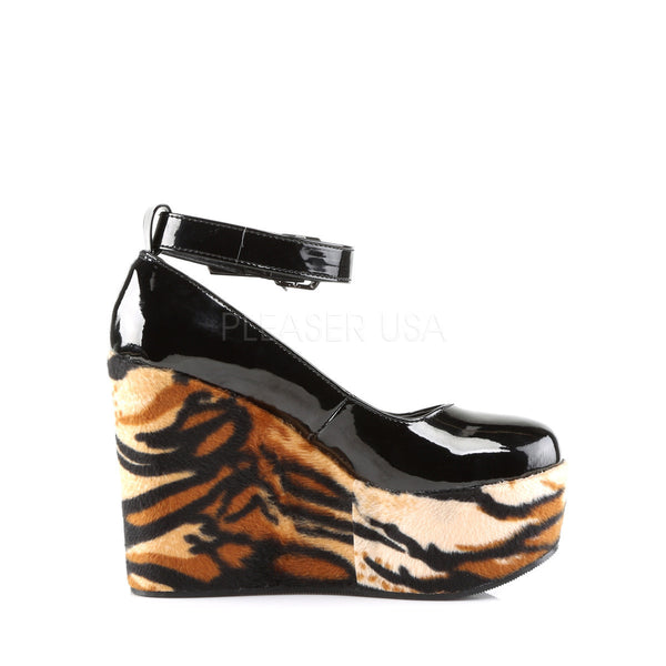 Demonia POISON-03 Black Patent Wedges - Shoecup.com - 3