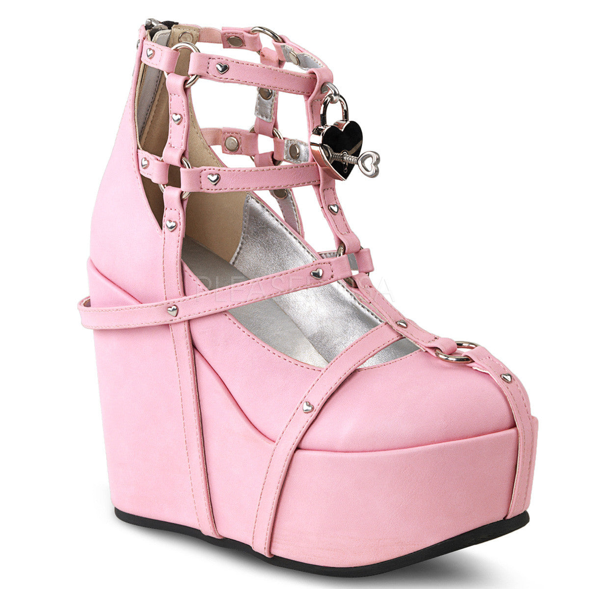 Demonia POISON-25-2 Pink Platform Wedges - Shoecup.com
