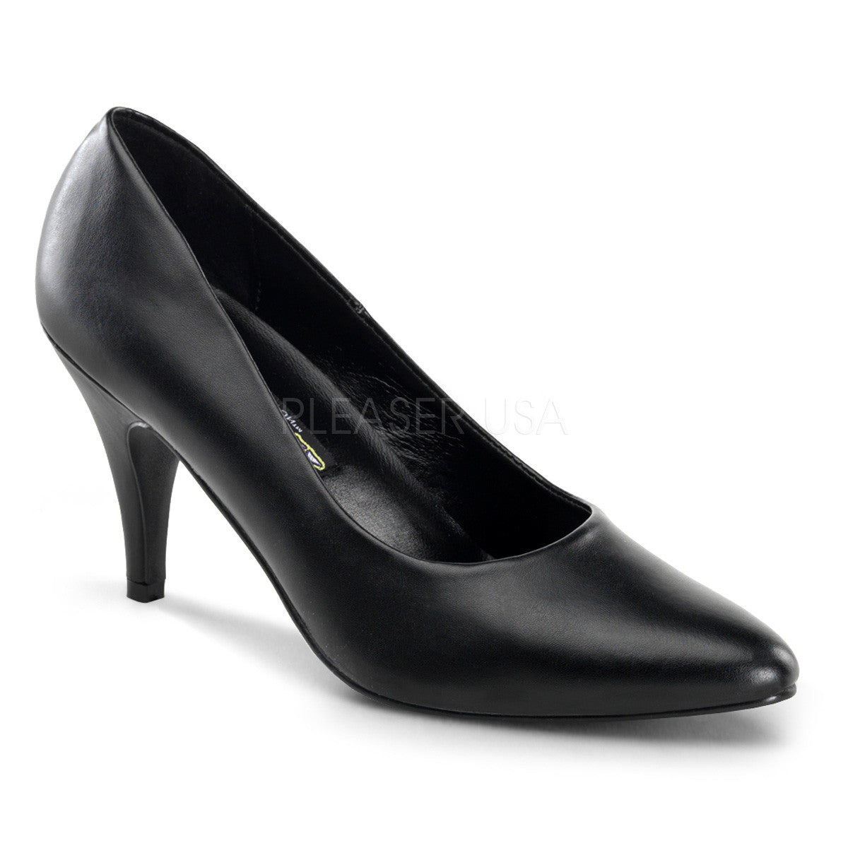 FUNTASMA PUMP-420 Black Pu Classic Pumps - Shoecup.com
