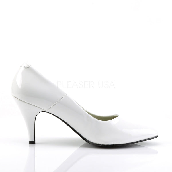 FUNTASMA PUMP-420 White Pat Classic Pumps