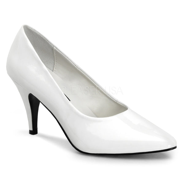 FUNTASMA PUMP-420 White Pat Classic Pumps - Shoecup.com